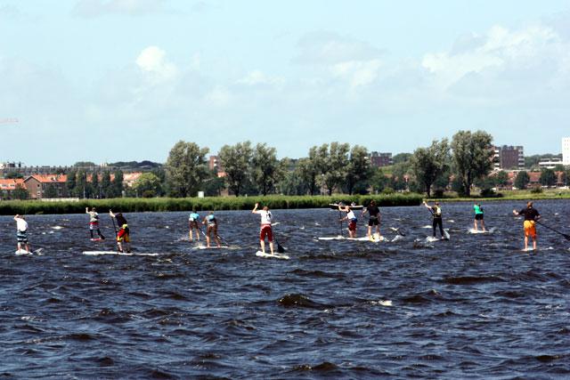 Start Hightide SUP-race Haarlem